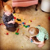 Charlie playing with one of his cousins