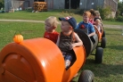 Rides with cousins at the pumpkin patch
