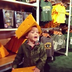 Cheesehead in training
