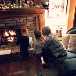 Story time with cousin and Nana