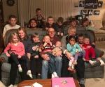 Nana and Papa and their SIXTEEN grandkids!